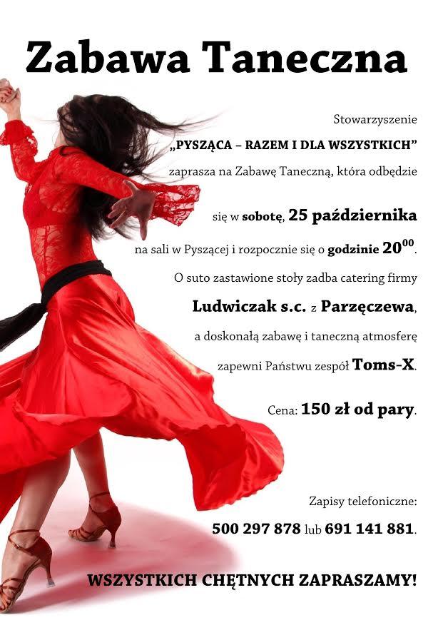 Zabawa taneczna 2014 plakat